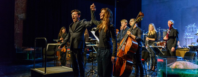 Christian Karlsen, Kate Moore & New European Ensemble (foto Rob Hogeslag)